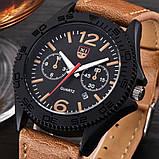 Часы мужские наручные XI New Tiger light brown-black, фото 2