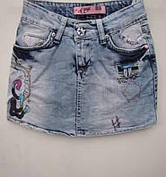 Летняя джинсовая юбка для девочек 122,128 роста Мини