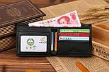 Кошелек бумажник мужской Crocodile dark brown, фото 3