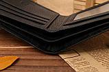 Кошелек бумажник мужской Crocodile dark brown, фото 4
