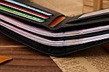 Кошелек бумажник мужской Crocodile dark brown, фото 5