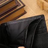 Кошелек бумажник мужской Crocodile dark brown, фото 6