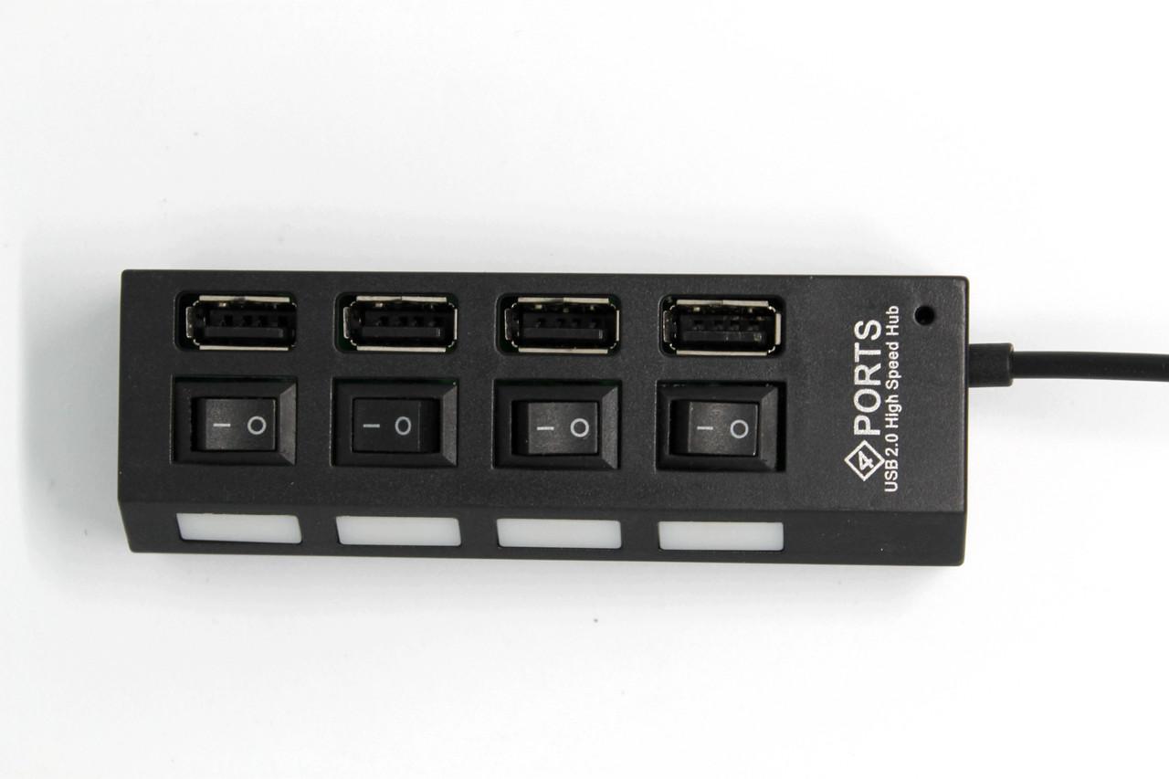 USB хаб 4 порта с выключателями