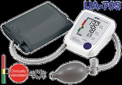 Полуавтоматический тонометр с манжетой на плечо UA-705L, манжета 32-45см, A&D Medical, Япония
