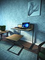 Робочий стіл в стилі Лофт з Бука та металу