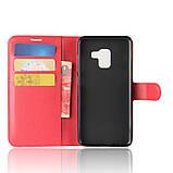 Чехол-книжка Bookmark для Samsung Galaxy A8 2018/A530 red, фото 4