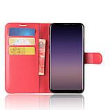 Чехол-книжка Bookmark для Samsung Galaxy A8 2018/A530 red, фото 5