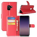 Чехол-книжка Bookmark для Samsung Galaxy A8 2018/A530 red, фото 6