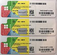 MICROSOFT WINDOWS 10 PROFESSIONAL 64-bit, OEM, UKR (FQC-08978) COA