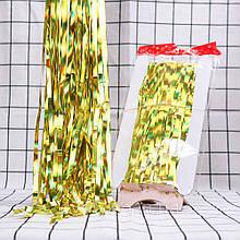 Занавес золото из фольги для оформления 1x2 м