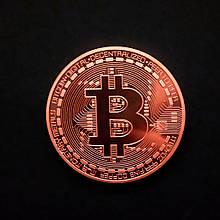 Сувенирная монета Bitcoin bronze