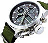 Часы мужские наручные AMST Biden+фирменная коробка в подарок nylon green-silver-black - Фото