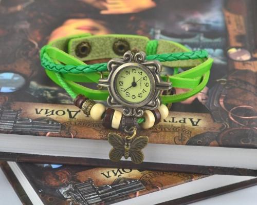 Винтажные женские наручные часы Shambala light green