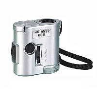 Карманный микроскоп Kromatech MG 9592 60X Серый (mdr_0400)