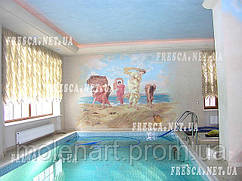 Бассейн оформление фресками