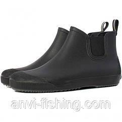 Мужские резиновые ботинки Псков Nordman Beat ПС 30 Черные с серой подошвой
