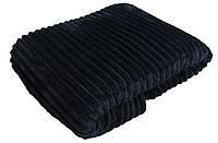 Плед махровый двуспальный 19011 Norka синий 2,0 м * 2,0 м вельсофт (микрофибра)