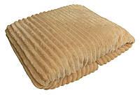 Плед махровый двуспальный 19011 Norka молочный 2,0 м * 2,0 м вельсофт (микрофибра)