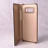 Чехол-книжка Clear Mirror для Samsung Galaxy S8 (G950) gold, фото 4