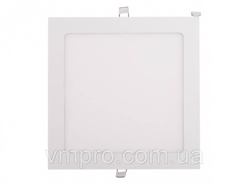LED панель Luxel квадратна, вбудована, 24W 4000K (DLS-24N)