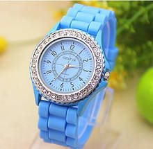 Часы женские Geneva Crystal light blue (голубой)