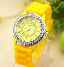 Часы женские Geneva Crystal  yellow (желтый)