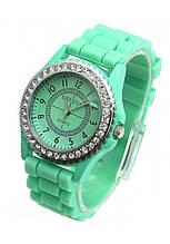 Часы женские Geneva Crystal  mint (мятный)