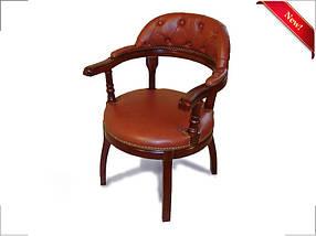 Кресло для конференций Бендети комбинированная кожа люкс Коричневая (Диал ТМ)