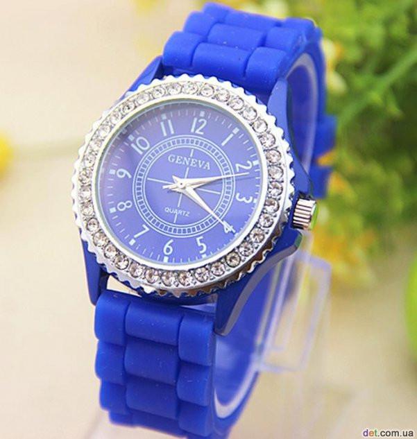 Годинники жіночі Geneva Crystal blue (синій)