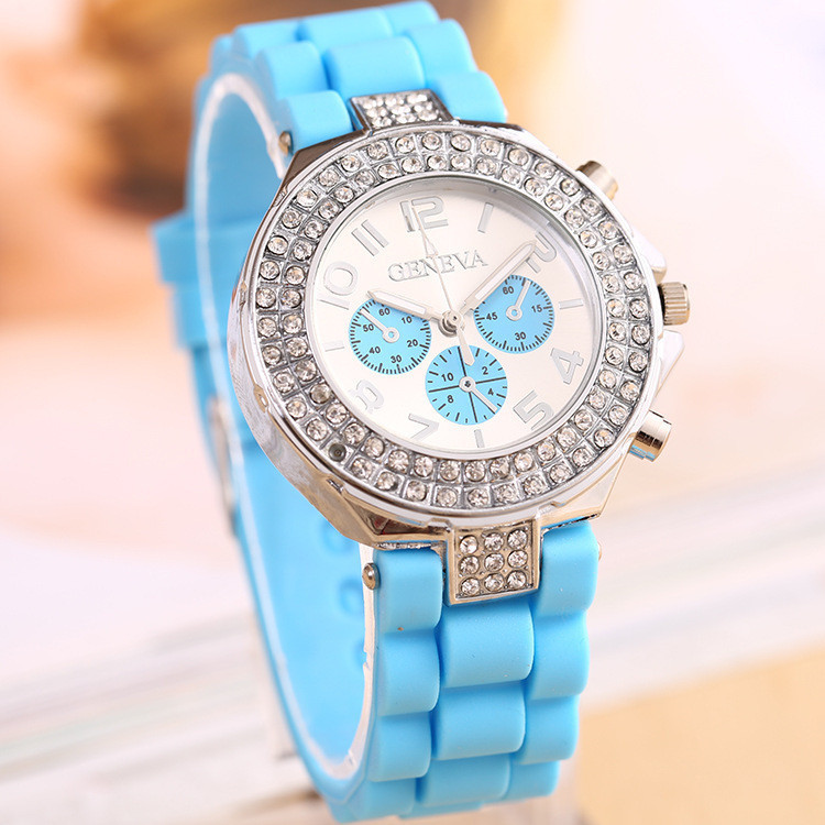 Часы женские GENEVA CRISTIS light blue (голубой)