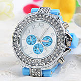 Часы женские GENEVA CRISTIS light blue (голубой), фото 2