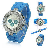 Часы женские GENEVA CRISTIS light blue (голубой), фото 3