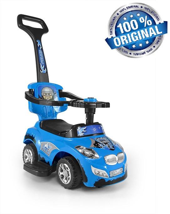 Машинка-каталка 3в1 Happy ТМ Milly Mally (Польша), синий