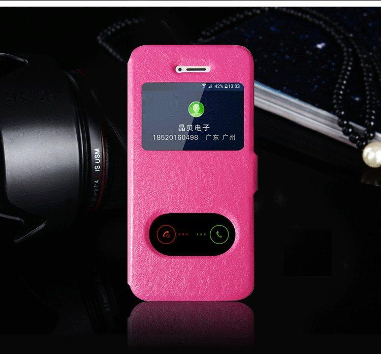 Чехол-книжка Holey для iPhone 5/5S/5SE pink