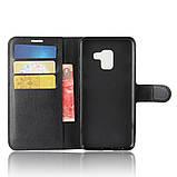 Чехол-книжка Bookmark для Samsung Galaxy A8 Plus 2018/A730 black, фото 4