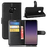 Чехол-книжка Bookmark для Samsung Galaxy A8 Plus 2018/A730 black, фото 6