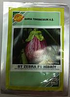 Семена баклажана BT Zebra F1, ранний, 500 семян