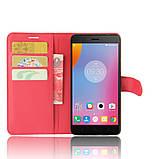 Чехол-книжка Bookmark для Lenovo K6 Note red, фото 4