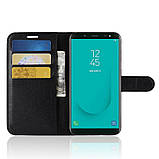 Чехол-книжка Bookmark для Samsung Galaxy J6 2018/J600 black, фото 4