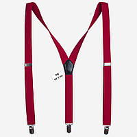 Bow Tie House Подтяжки красные текстурные 2.5 см