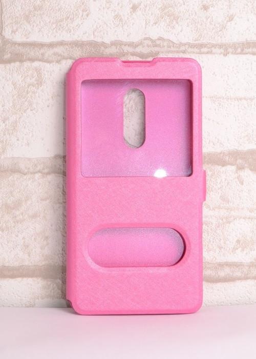 Чехол-книжка Holey для Meizu 15 pink
