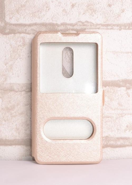 Чохол-книжка Holey для Meizu 15 Plus gold