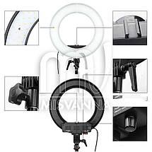 """Профессиональная кольцевая лампа MakeUp RL-12"""" с штатив-треногой для косметологии, фото 3"""