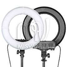 """Профессиональная кольцевая лампа MakeUp RL-12"""" с штатив-треногой для косметологии, фото 2"""