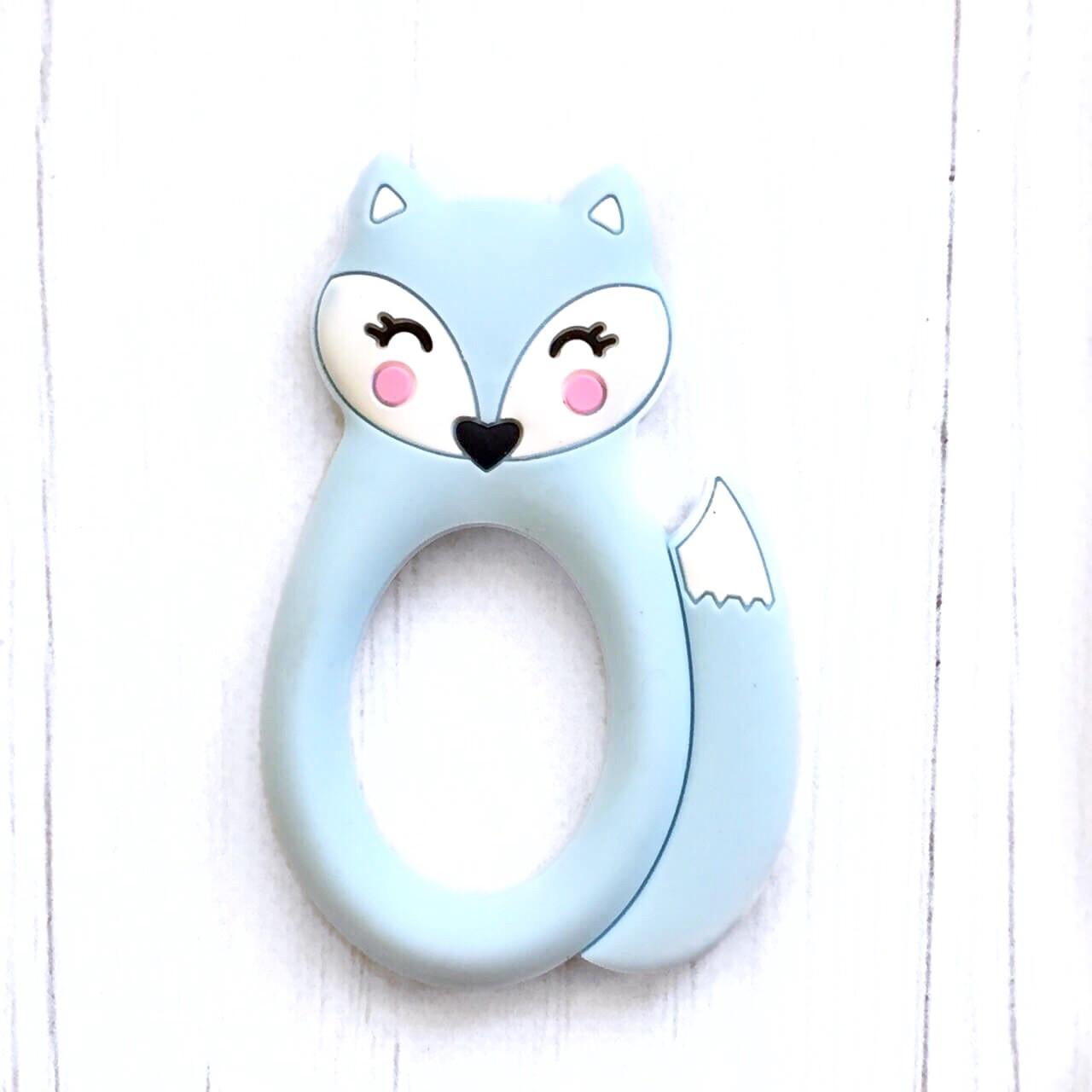 Лисичка круглая (беби блю) прорезыватель для зубов