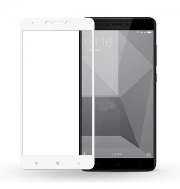 Защитное стекло 5D Future Full Glue для Xiaomi Redmi Note 4X white