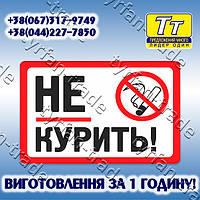 """МЕТАЛЛИЧЕСКАЯ ТАБЛИЧКА - """"НЕ КУРИТЬ"""" (ИЗГОТОВЛЕНИЕ ЗА 1 ЧАС)!"""