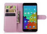 Чехол-книжка Bookmark для Meizu M2 Note light pink, фото 3