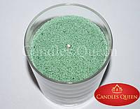 Свеча насыпная весенне-зеленый цвет 1 кг +фитиль, фото 1
