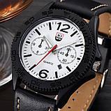 Годинники чоловічі наручні XI New Tiger black-white, фото 2